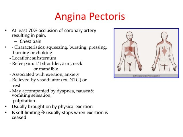 the clinical description of the medial condition angina pectoris Looking for online definition of intermittent claudication in the medical  to limp, and the condition is characterized  angina herpetica angina pectoris.