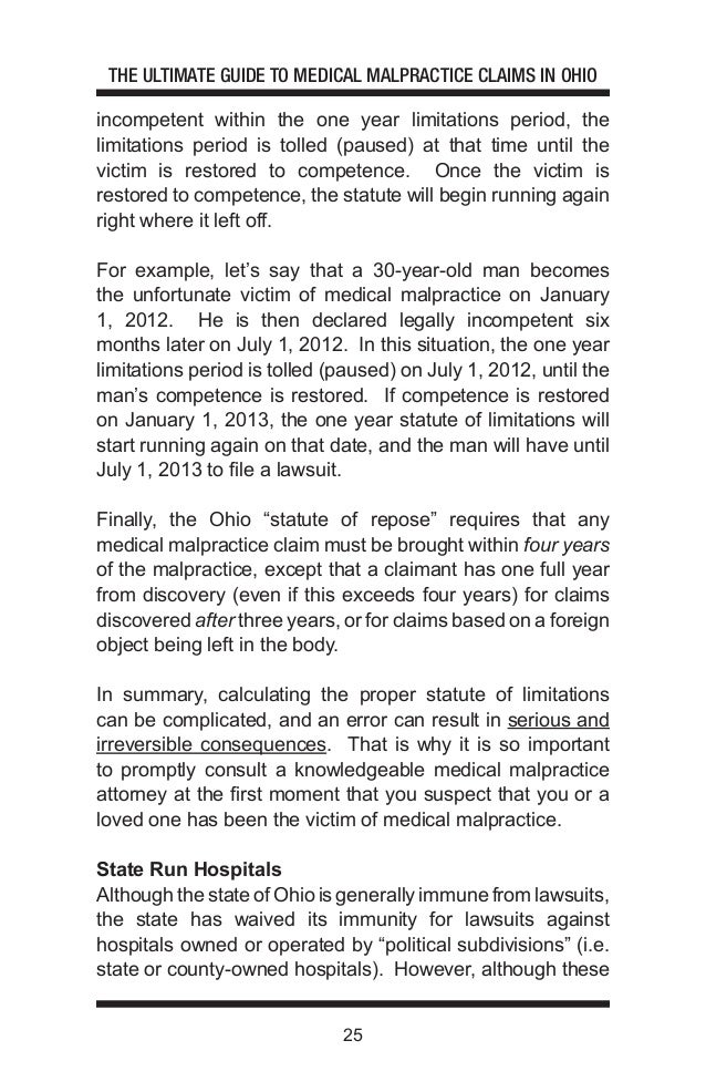 The Ultimate Guide to Medical Malpractice Claims in Ohio – Tolling Agreement Template