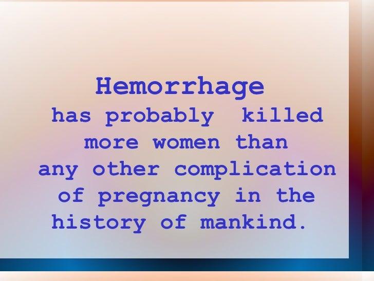 Medical management of postpartum hemorrhage pph lecture