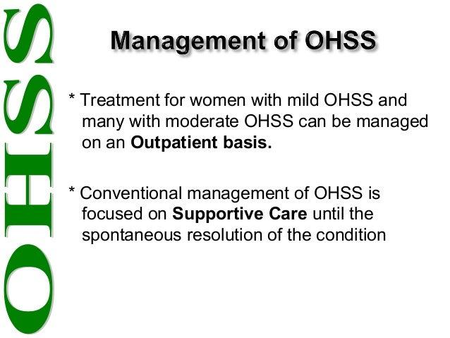 ovarian hyperstimulation syndrome treatment