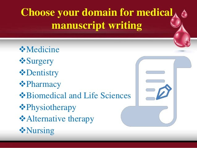 Scientific manuscript writing services