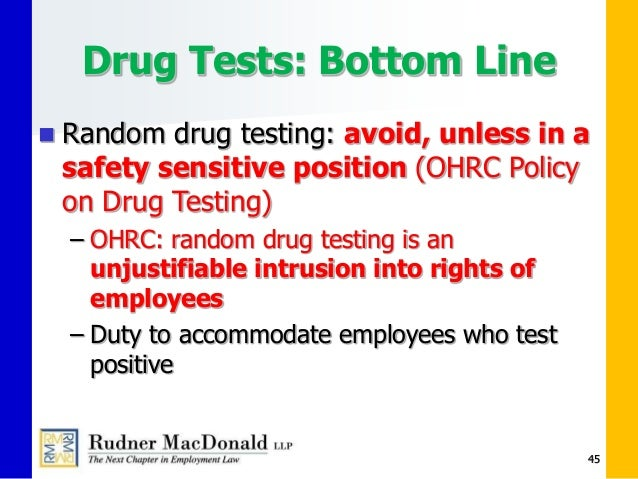 drug testing and workplace accidents A 10-panel urine drug test in addition to the 5 panel also tests for these   likewise, post-incident will help clarify workplace accidents and reasonable  suspicion.