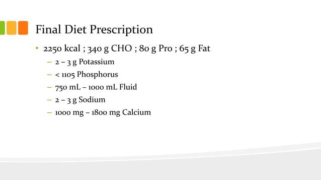 Calcium and Sodium Supplement Computation • Calcium Restriction – 1400 mg • Less: Inherent Calcium – 467 mg • Remaining = ...
