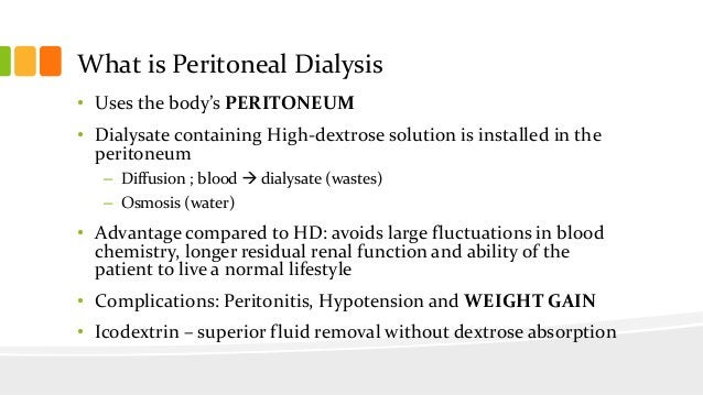Evaluation of Dialysis Frequency • Kinetic Modeling – Measures the removal of urea from the patient's blood over a given p...