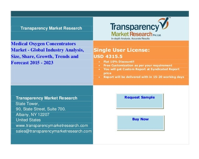 Transparency Market Research Medical Oxygen Concentrators Market - Global Industry Analysis, Size, Share, Growth, Trends a...
