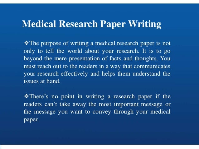 Medical paper writers