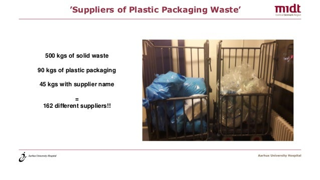 'Suppliers of Plastic Packaging Waste' 500 kgs of solid waste 90 kgs of plastic packaging 45 kgs with supplier name = 162 ...