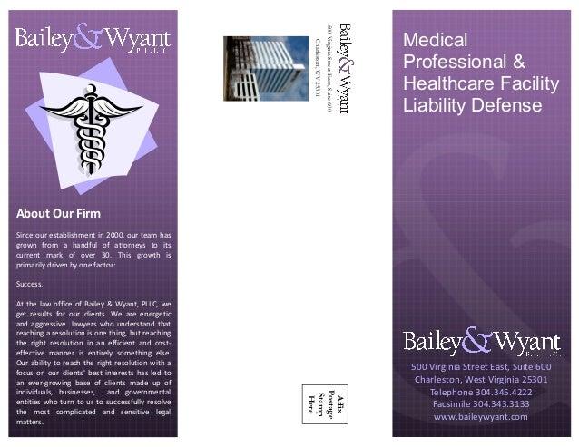 500VirginiaStreetEast,Suite600 Charleston,WV25301 Affix Postage Stamp Here Medical Professional & Healthcare Facility Liab...