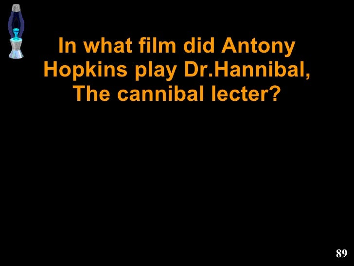 In what film did Antony Hopkins play Dr.Hannibal, The cannibal lecter?