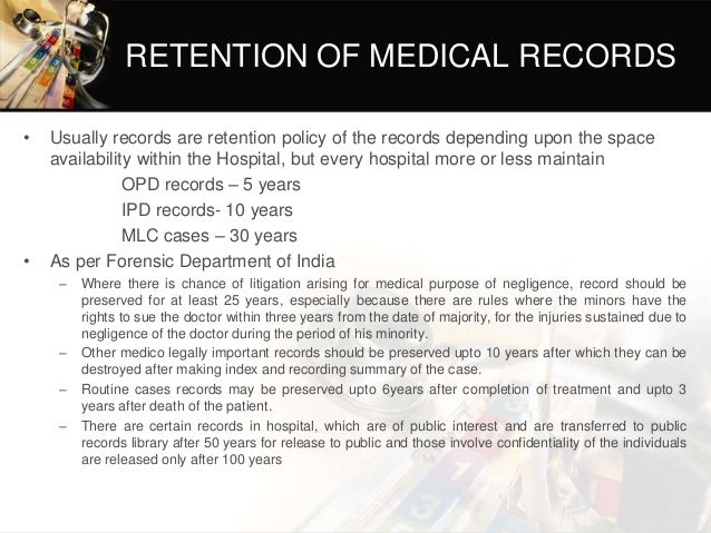 medical record department in hospital pdf