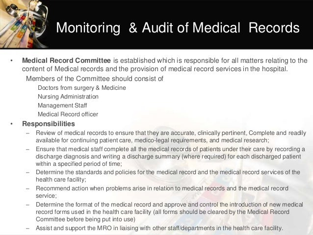 15 monitoring audit of medical records