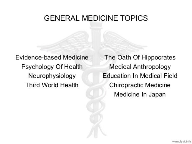 medical field research topics