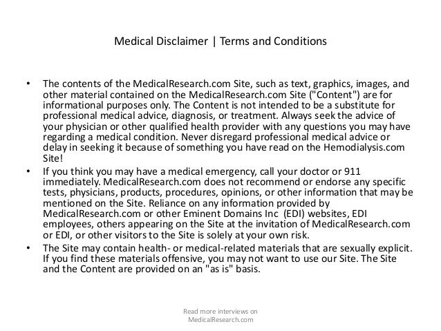 MedicalResearch.com:  Medical Research Exclusive Interviews May 12 2015 Slide 2