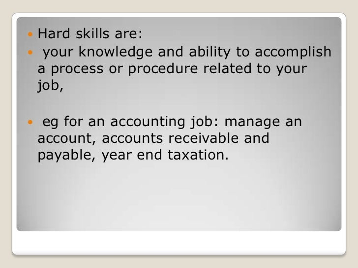 Hard Skills ...  Hard Skills For Resume