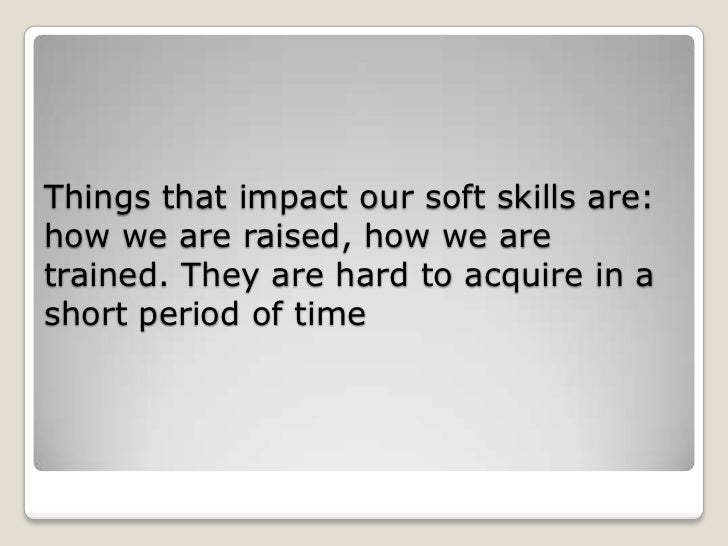 soft skills resume example