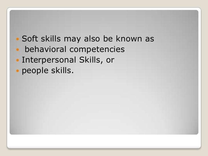 Soft Skills ...  Resume Soft Skills
