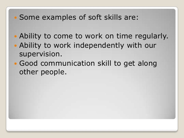 soft skills examples for resume