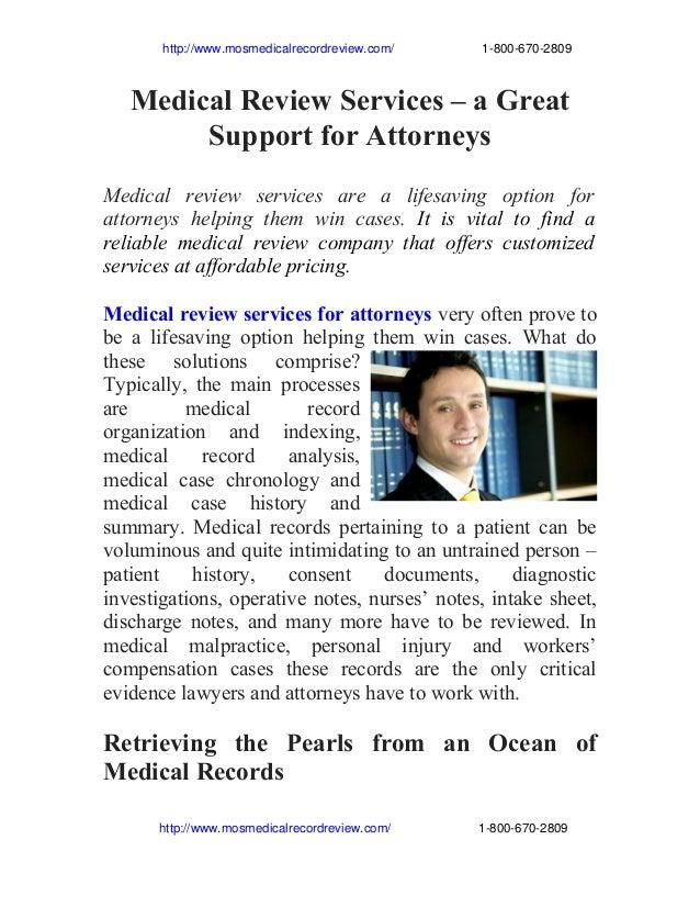http://www.mosmedicalrecordreview.com/18006702809  Medical Review Services – ...