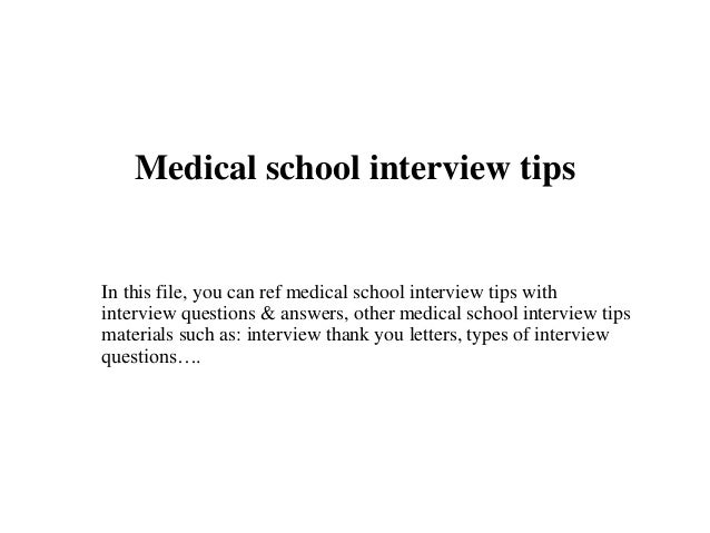 Medical school interview tips medical school interview tips in this file you can ref medical school interview tips with expocarfo