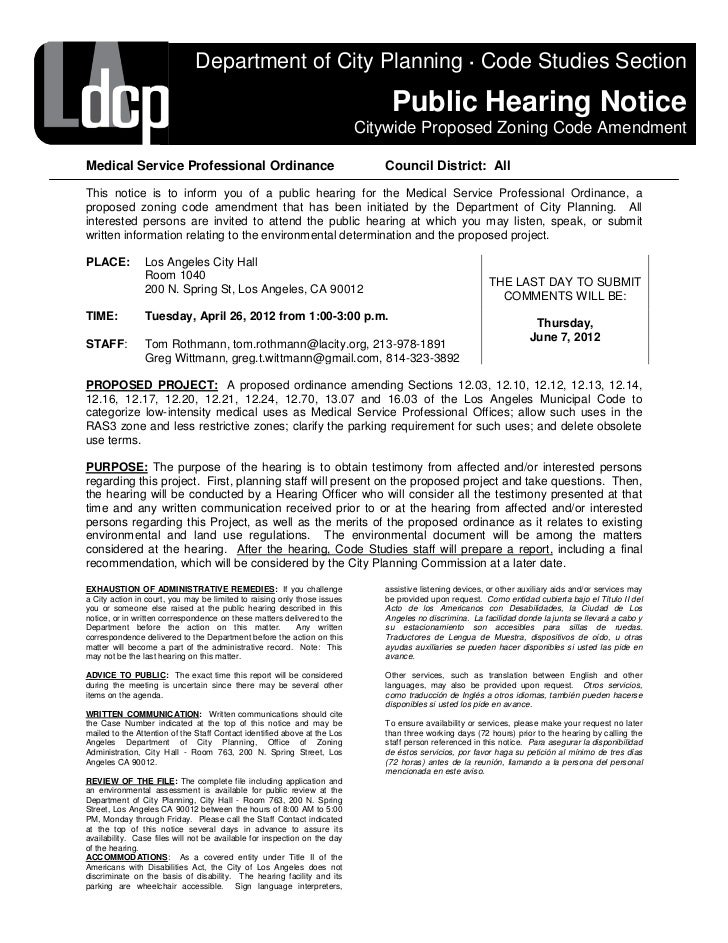 Department of City Planning · Code Studies Section                                                                        ...