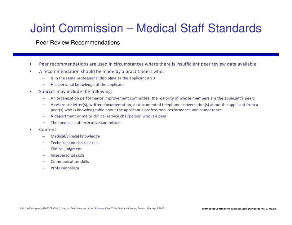 medical staff standards for a clinical leader