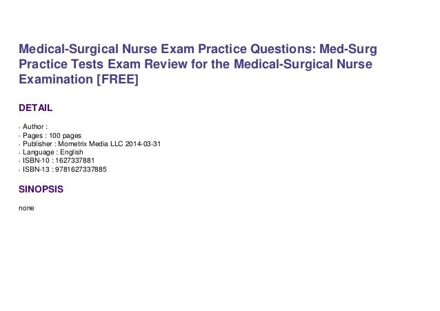 exam nurse practice questions surgical medical