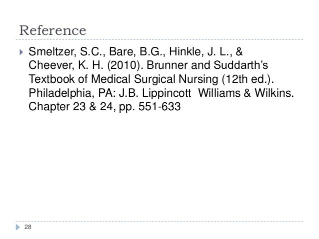 Brunner and Suddarth's Textbook of Medical-Surgical Nursing 13th Ed Volumes 1 and 2
