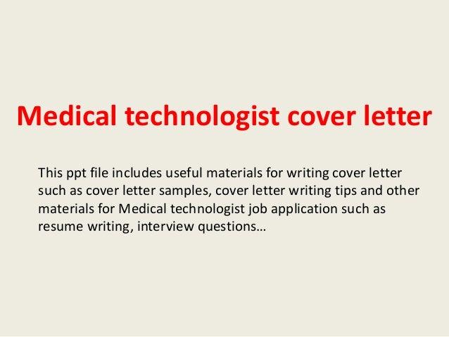Application Letter Sample Medical Technologist