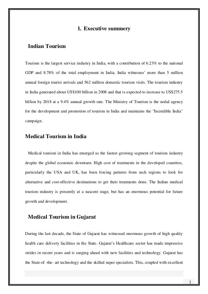 <ul><li>Executive summery</li></ul>Indian Tourism<br />Tourism is the largest service industry in India, with a contributi...