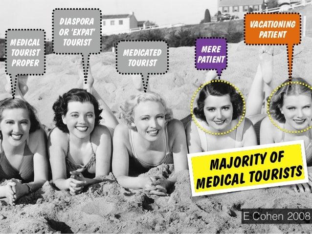MEDICATED TOURIST MEDICAL TOURIST PROPER VACATIONING PATIENT MERE PATIENT DIASPORA OR 'EXPAT' TOURIST E Cohen 2008 MAJORIT...