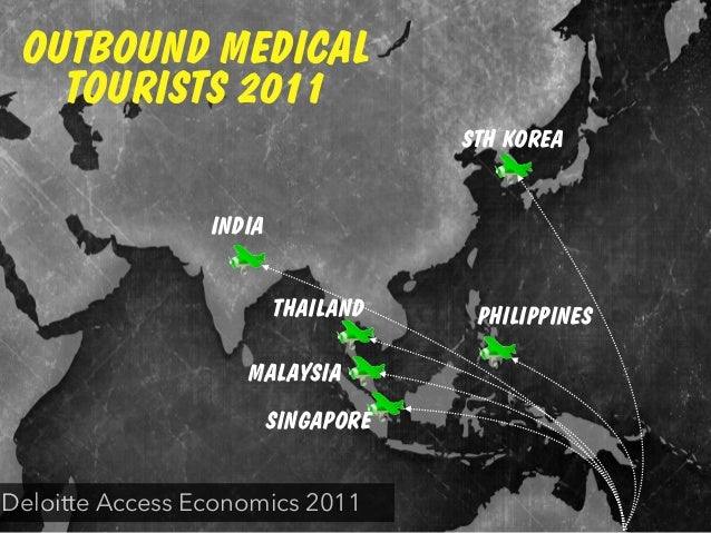PHILIPPINESTHAILAND MALAYSIA SINGAPORE STH KOREA INDIA OUTBOUND MEDICAL TOURISTS 2011 Deloitte Access Economics 2011