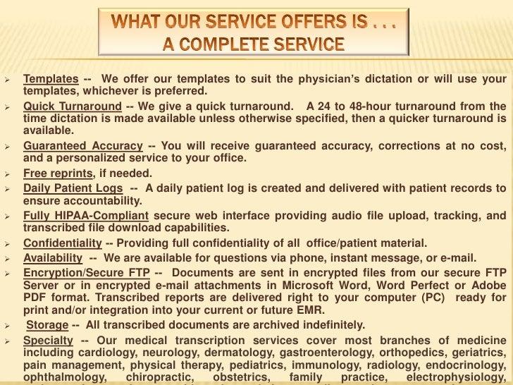 Medical Transcription Power Point Show