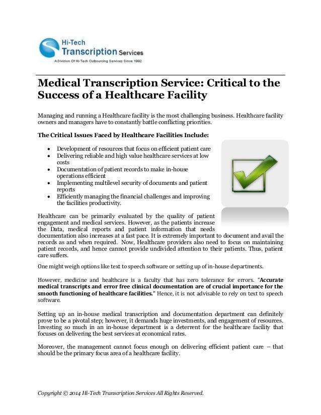 medical transcription samples  Medical Transcription Report