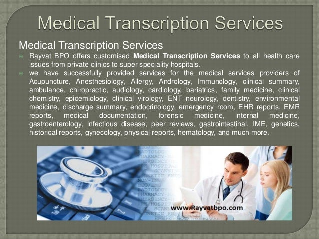 Medical transcription service for forensic psychiatry