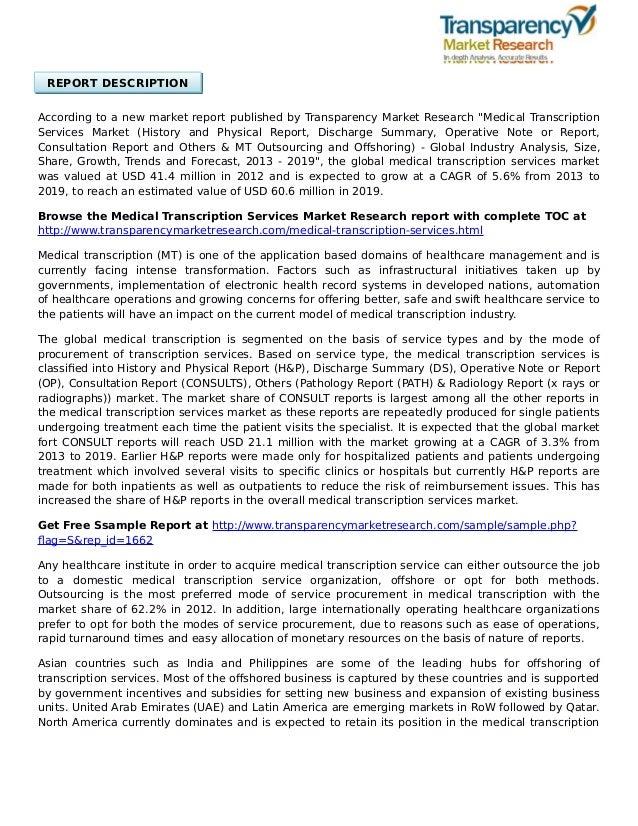 Future of Medical Transcription - Flatworld Solutions  Medical Transcription Report