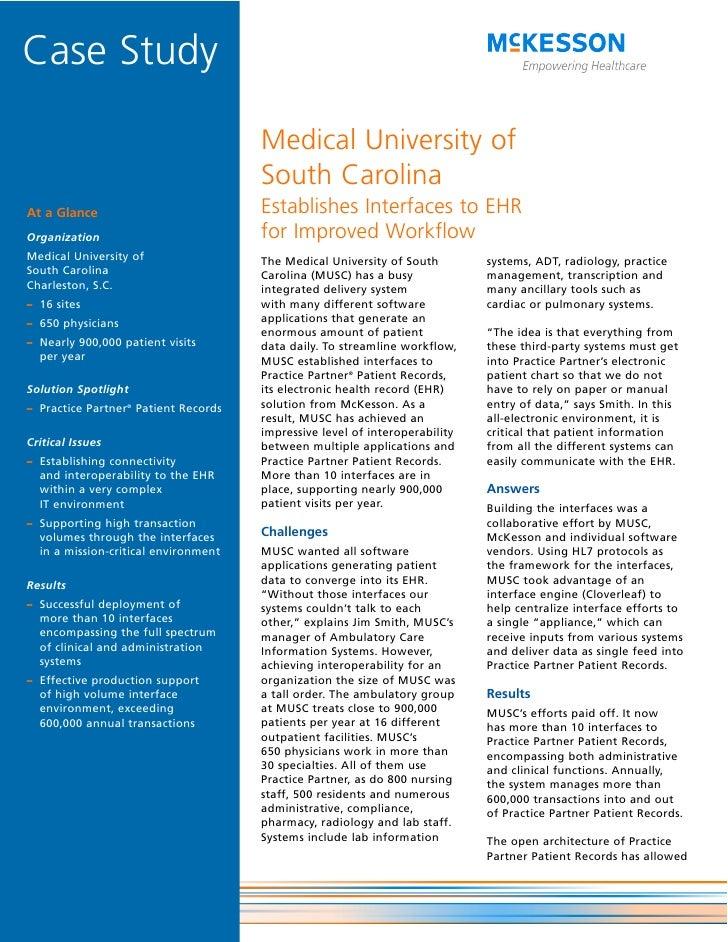 Medical University of South Carolina Establishes Interfaces