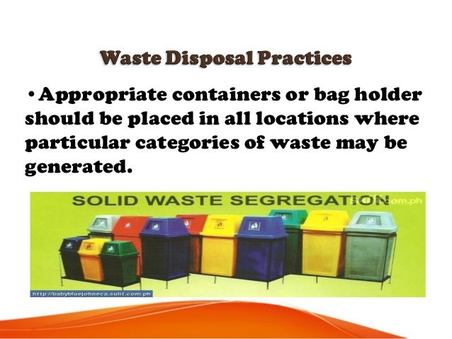 •Staff should never attempt to correct errors of segregation by removing items from a bag after disposal or by placing one...