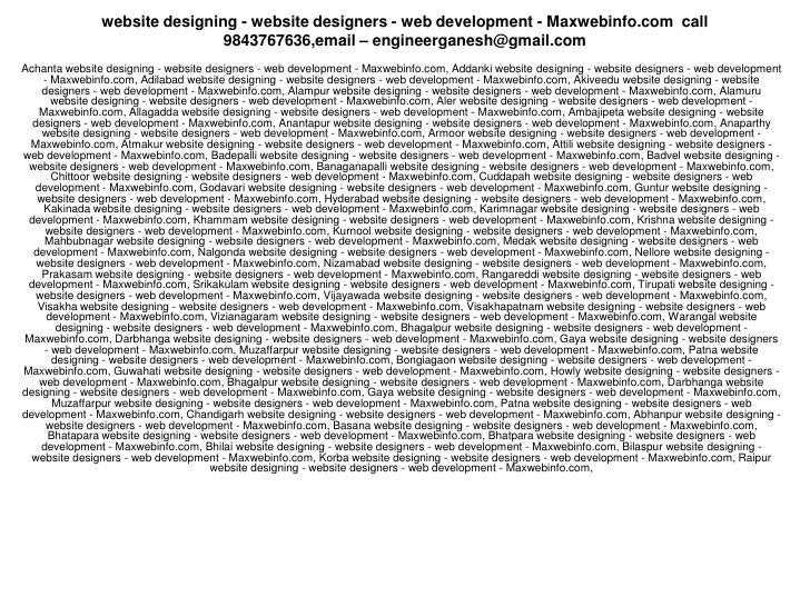 website designing - website designers - web development - Maxwebinfo.com call                                9843767636,em...
