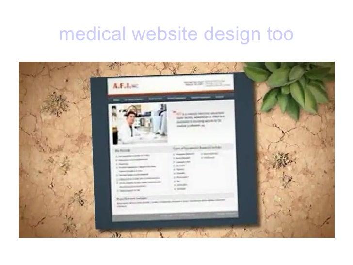 medical website design too