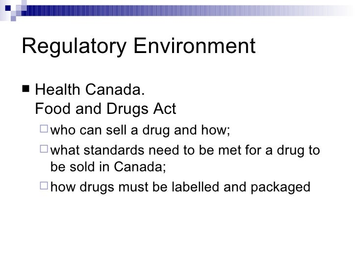 canadian food and drug act pdf