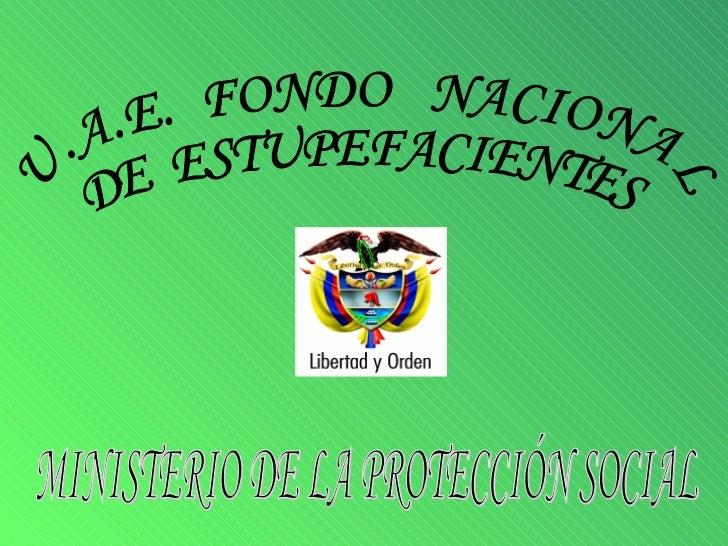 MINISTERIO DE LA PROTECCIÓN SOCIAL U.A.E.  FONDO  NACIONAL DE  ESTUPEFACIENTES