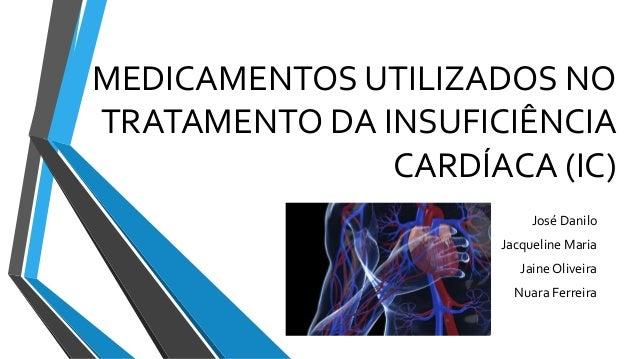 MEDICAMENTOS UTILIZADOS NO  TRATAMENTO DA INSUFICIÊNCIA  CARDÍACA (IC)  José Danilo  Jacqueline Maria  Jaine Oliveira  Nua...
