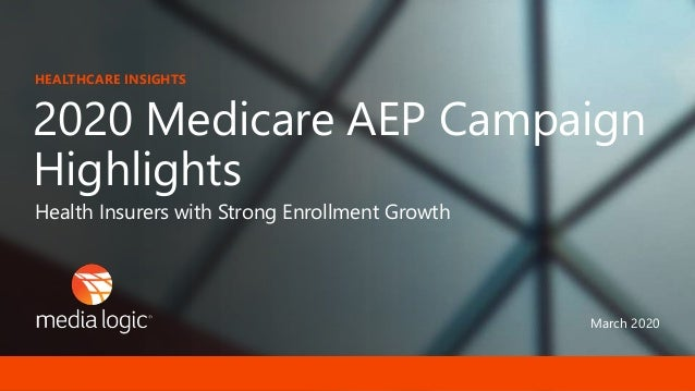 March 2020 2020 Medicare AEP Campaign Highlights HEALTHCARE INSIGHTS Health Insurers with Strong Enrollment Growth