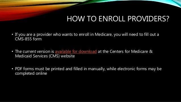 Medicare provider enrollment