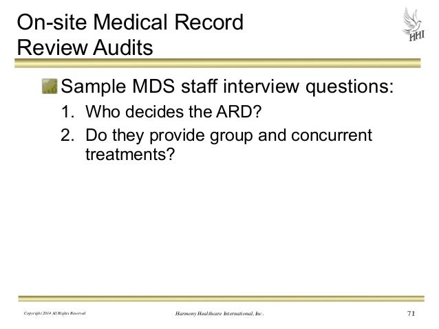 ... 71. On Site Medical Record Review Audits Sample ...