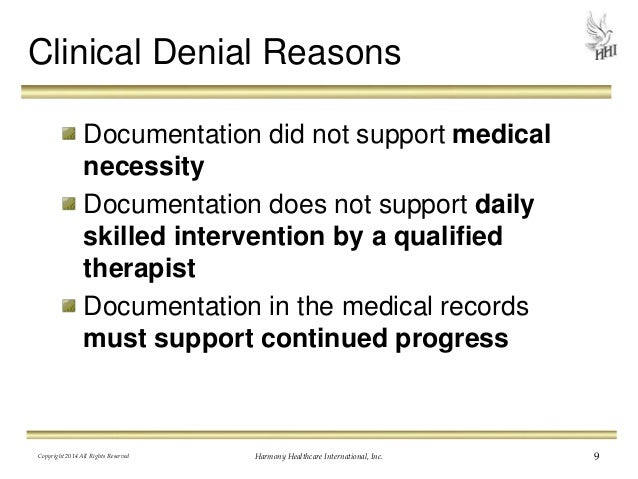 Medicare denied claims how the appeal letter can make or break you 9 clinical denial reasons documentation did not support medical necessity spiritdancerdesigns Choice Image