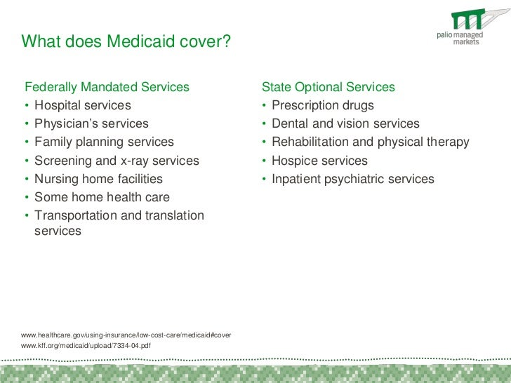 What does Medicaid for dental cover?