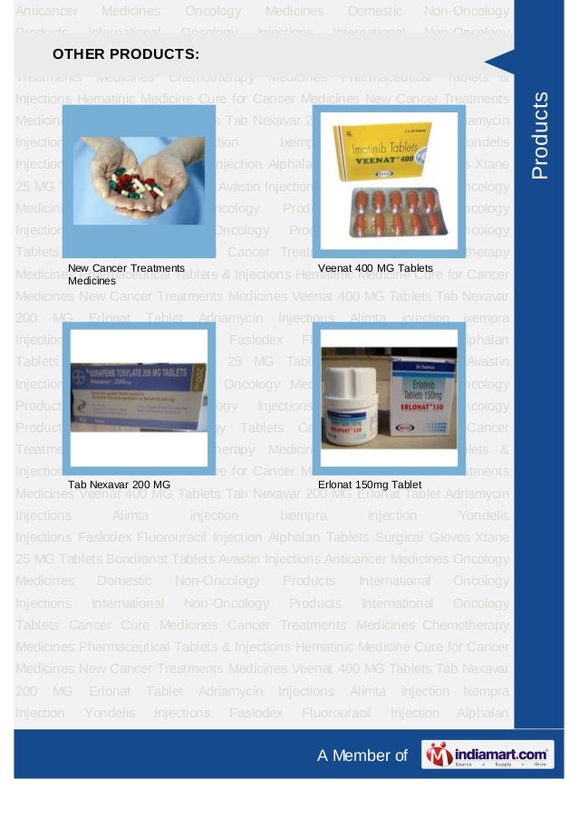 Anticancer        Medicines        Oncology        Medicines         Domestic         Non-OncologyProducts       Internati...