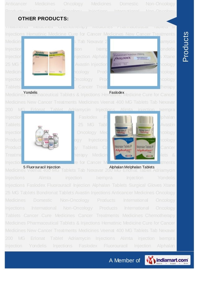 Anticancer         Medicines           Oncology        Medicines         Domestic         Non-OncologyProducts        Inte...