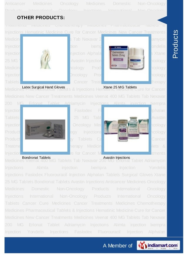 Anticancer        Medicines         Oncology       Medicines         Domestic          Non-OncologyProducts       Internat...